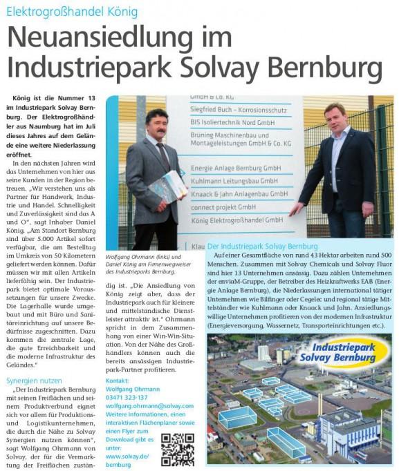 Nbz Bernburg_Artikel IP Bernburg